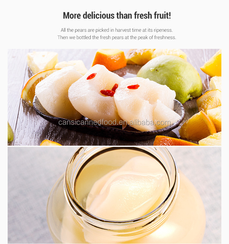 Chinese Famous Canned Food Factory Canning Pear Fruit In Light Syrup