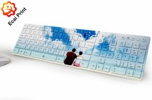 wholesale fashion heat transfer printing keyboard and mouse