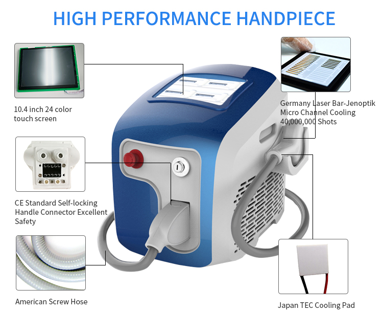 Professional factory price 808 nm laser hair removal machine for salon and clinic