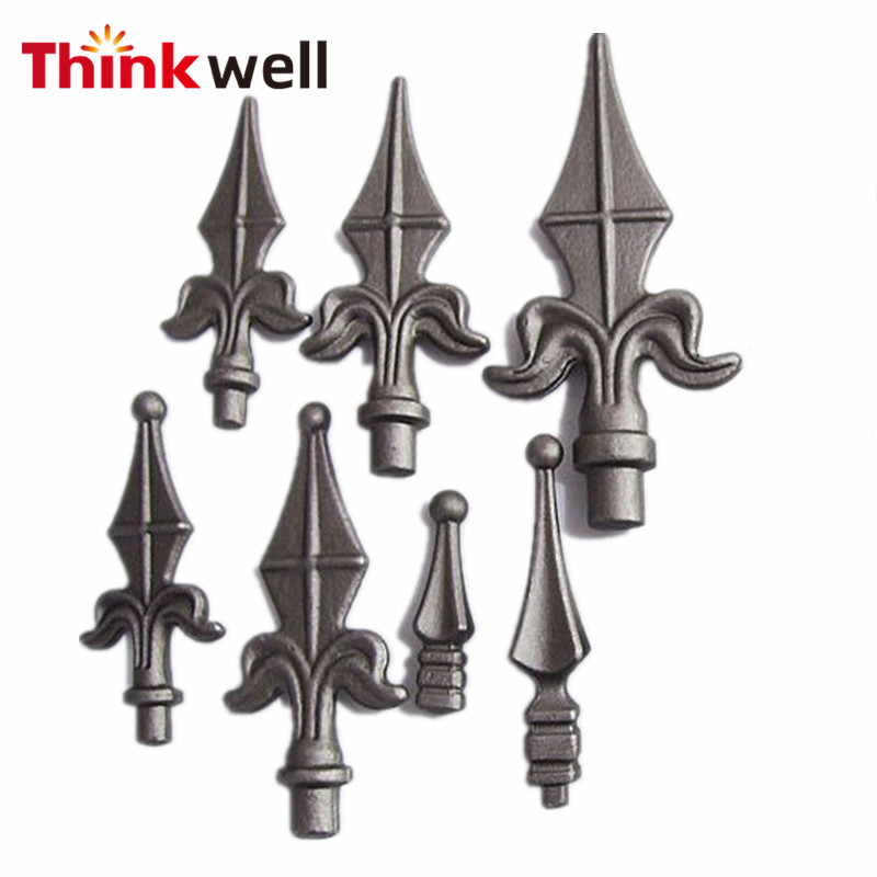 2017 Hot Sale Ornamental Cost Iron Finial Wrought Fence