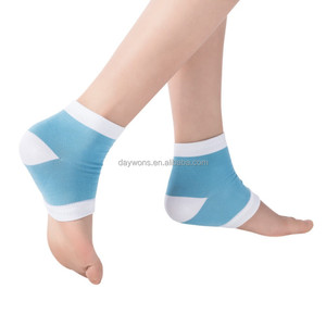 2015 New Nice Gel Heel Ankle Support Half SPA Moisturizing Crack Anti-cracking Socks