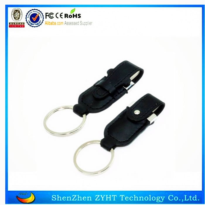 Wholesale 16GB pendrive memory stick leather Metal 2.0 USB Flash Drive 16G