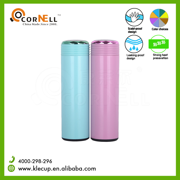 2016 newest hot 500ml stainless steel vacuum thermos water bottle with push lid