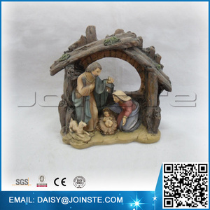 SZ8078-140354 Hot Sale Holy Family Religious Statues JOSEPH MARY AND BABY JESUS