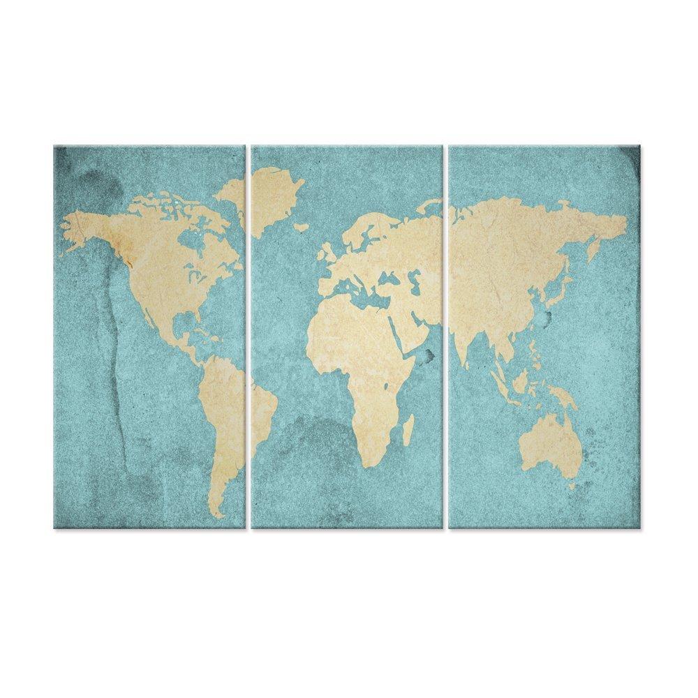 Buy Brown Framed Executive Style, World Map (Winkel Tripel ...