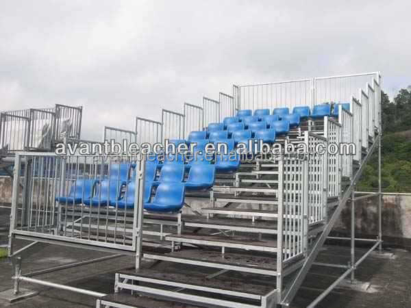 Outdoor Metal Bleacher, Metal Structural Grandstand with Scaffolding design