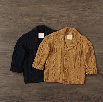 Fashion Baby Boy Sweater Designs Cotton Knitting Crochet Cardigan