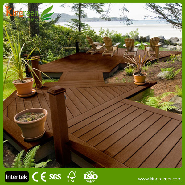 Best sale hollow tongue and groove composite decking solid for Timber decking for sale
