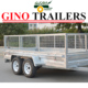 wholesale 3 wheel motorcycle tandem trailer with best price