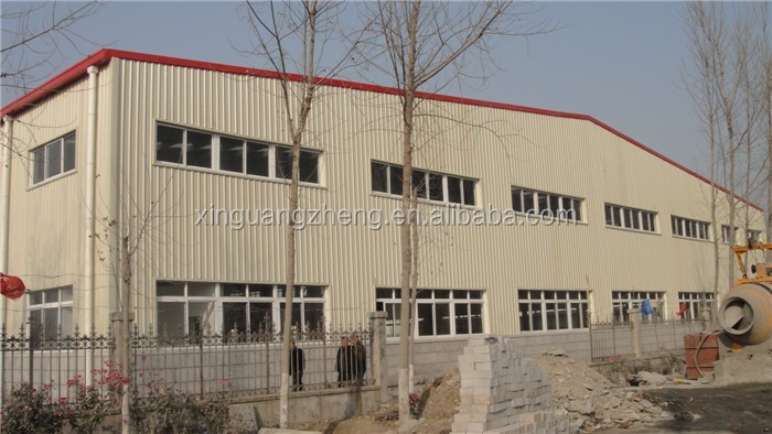 Industrial prefab light steel structure frame warehouse