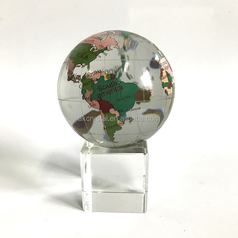 Hot sale souvenir or business gifts decorative desktop glass earth hot sale souvenir or business gifts decorative desktop glass earth globe crystal world map globe gumiabroncs Gallery