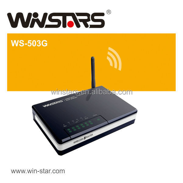 54Mbps 4 port Wireless Router, 4 x 10/100Mbps Fast Ethernet port for LAN with Auto MDI-X function