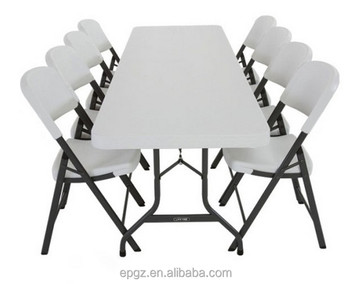 Modern Design Folding Cafeteria Table Chair Set Plastic School Can