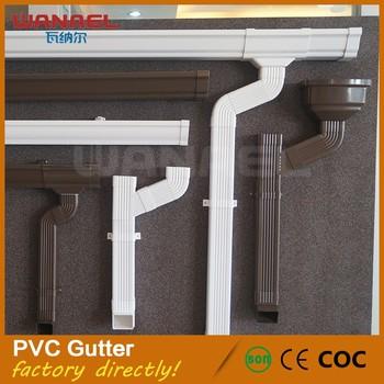 New Rain Gutter And Pvc Downpipe Bracket Hot Sale Gutter