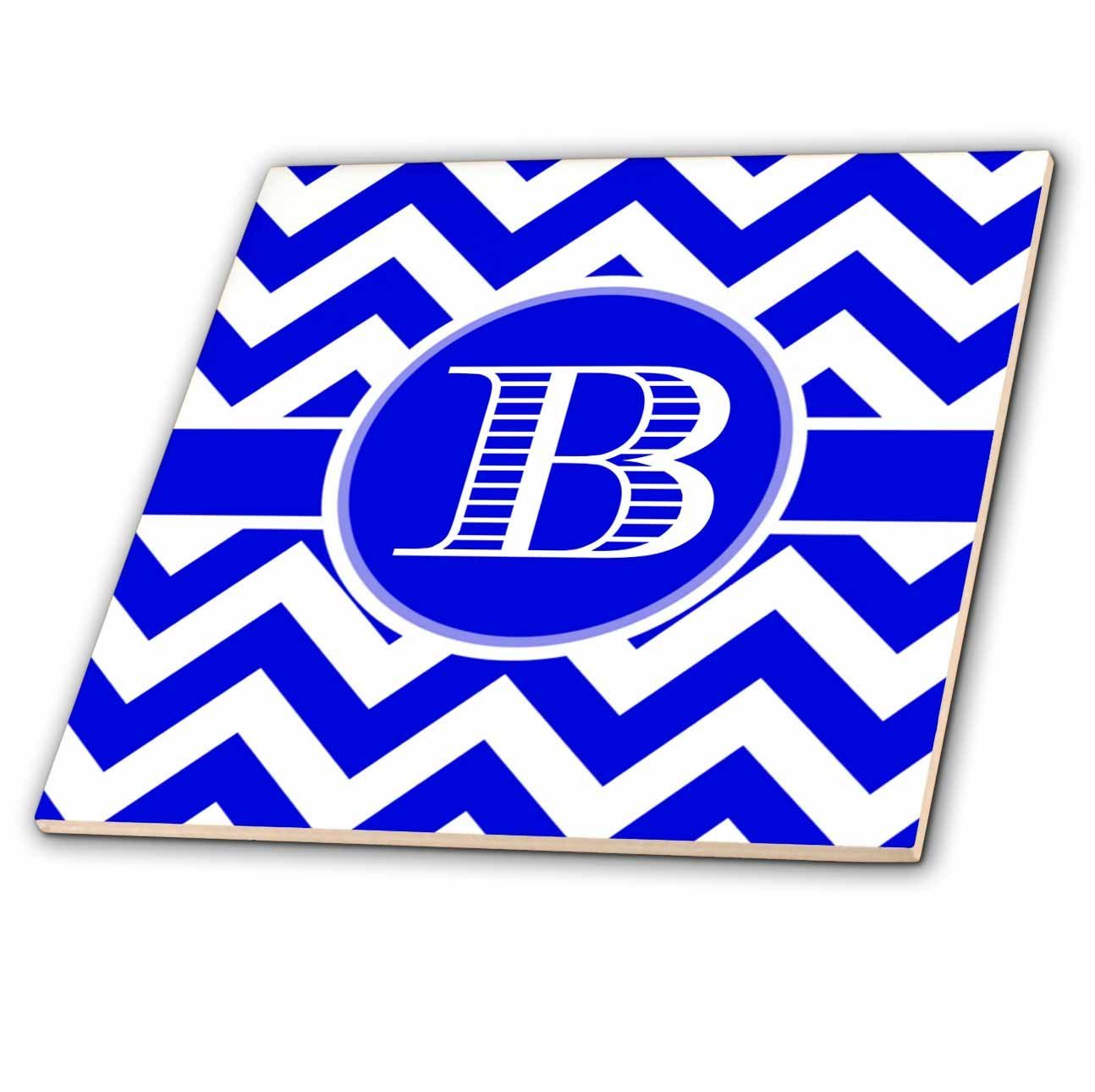 Cheap snow white ceramic tile find snow white ceramic tile deals get quotations 3drose brooklynmeme designs blue and white chevron monogram white initial b 8 inch ceramic dailygadgetfo Images