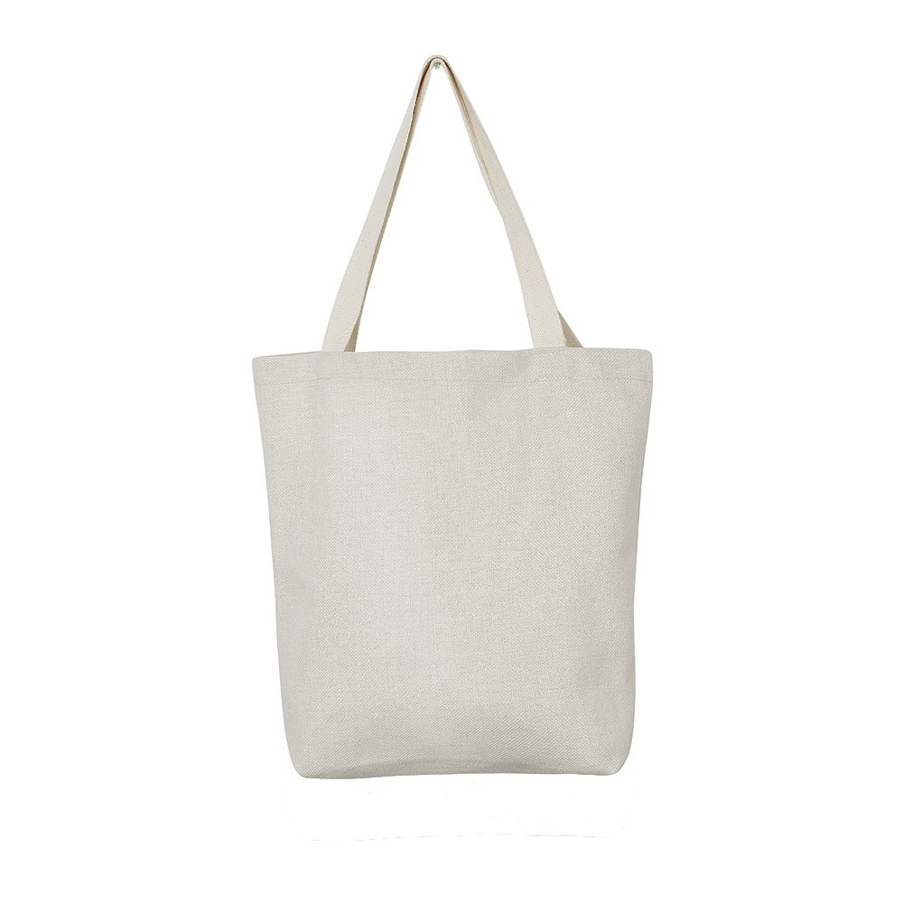 "Aimto Heavy Duty Canvas Tote Bag Washable 15""W x 16""H x 4""D Resuable Cotton Canvas Tote Bag,Perfect for Shopping, Laptop, School Books"