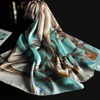 2017 new arrival OEM customer design digital printed silk scarf wholesale china