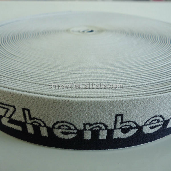 Hot sale manufacturers wholesale elastic 1 1/4 inch custom jacquard ribbon
