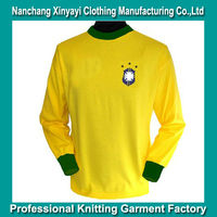 Made in China Cheap Football Shirts for Sale / Retro Football T Shirt for Men Long Sleeve China Manufacturer