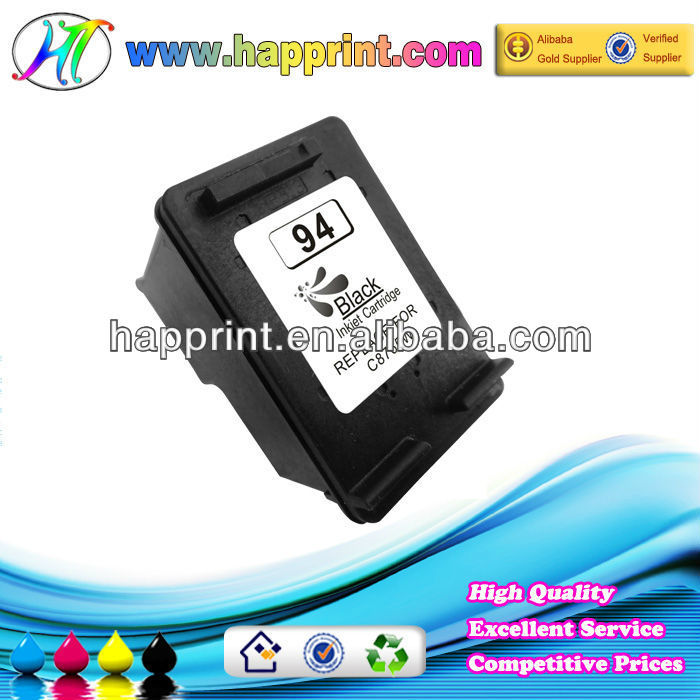 Shenzhen factory sell refilled cartridge produced by first hand used ink cartridge for HP94 (C8765W)