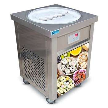 CE Rohs 50CM ice pan instant stir fry roll making machine thailand hot selling good price thai fried ice cream machine