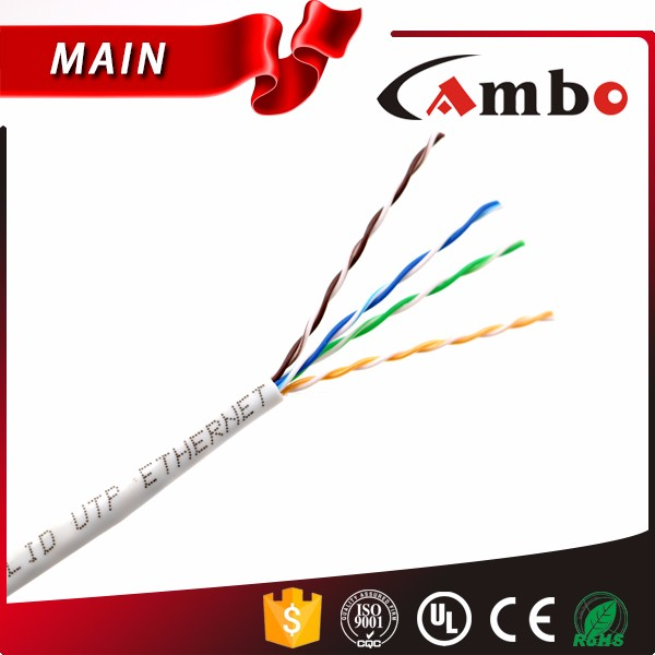 High performance CMR cat5e retractable lan cable. 4 Pairs Solid Conductor Used in Structured Cabling