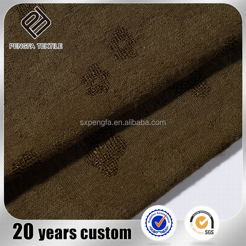 imitated linen fabric in roll, jacquard natural cotton composition fabric linen