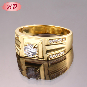 Custom Cheap Saudi Fashion Mens Gold And Diamond Rings