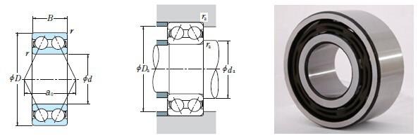 Nylon cage ball bearing 5307 ZZ rodamientos 5307 2RS S5307