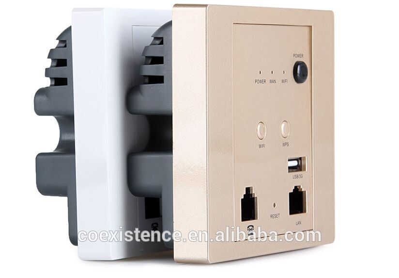 Wireless Wifi Usb Wall Socket Wall Ap 2 Lan Plug Access