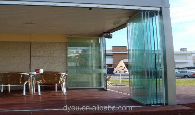 Well Design Aluminum Frameless Exterior Glass Sliding Doors