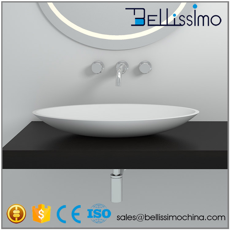 Sanitary Wares China Wholesale Market, Oval Stone Resin Basin Sink BS-8326