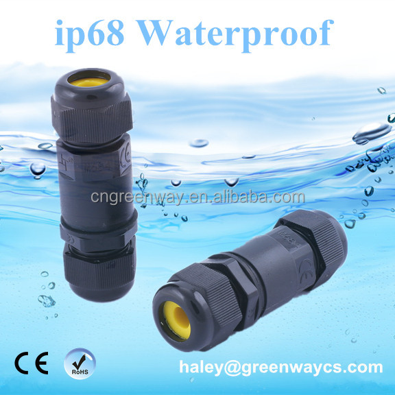 Underwater 4M tested underground screw cable connector waterproof 2 pin 3 pin 4 pin ip68 ip67