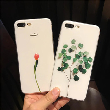 For iphone 11 12Pro 6 7 8plus Phone Case 3D Relief Leaf Cute Plants Leaves Flower Back Cover For iphone XSMAX XR XS X Coque Capa