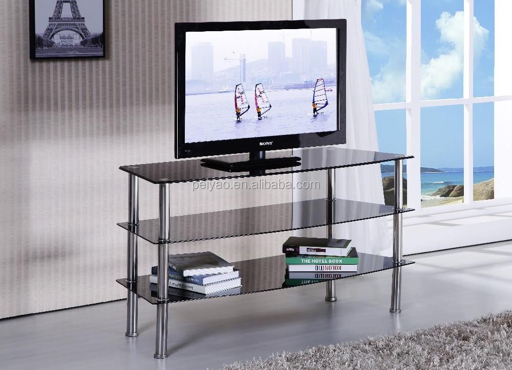 New Model Gl Tv Stand Showcase Stainless Steel For Living Room Ftv