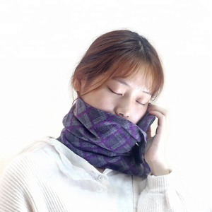 Custom Foldable Camping Support Orthopedic Soft scarf travel Neck Pillow Memory Foam Novelty Airplane Travel Massage Neck Pillow