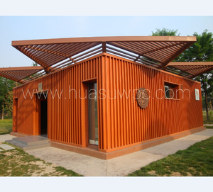 Prefab WPC House wall panel wood plastic composite