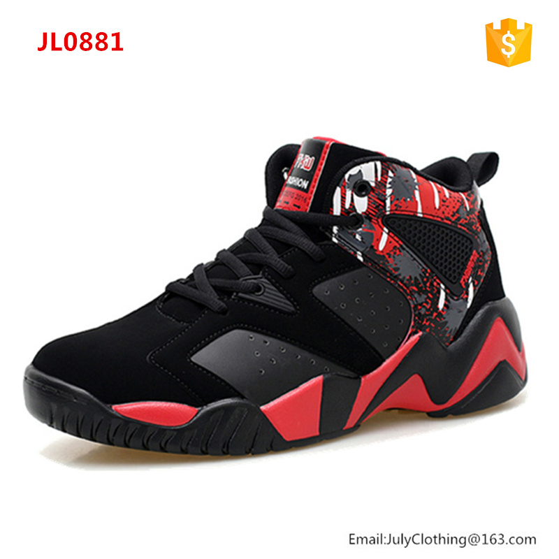 2017 China factory footwear fashion man basketball sport shoes