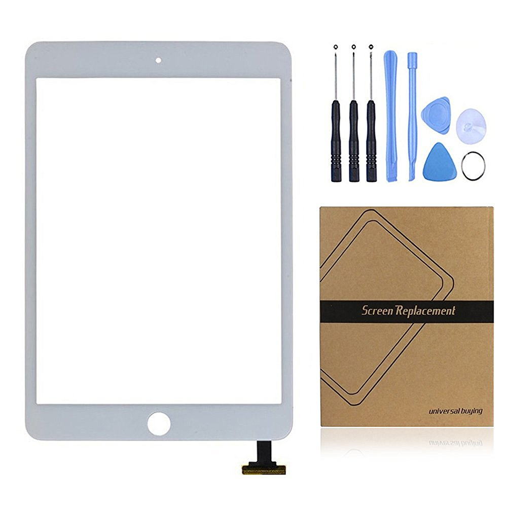 iPad Mini 2 Screen Replacement, Universal Buying Touch Panel Outer Glass Lens with Flex Cable Screen Digitizer Complete Assembly for iPad Mini 2(white)