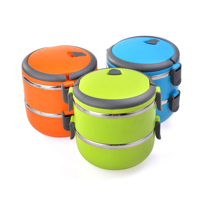 High quality Colorful sealed stackable stainless steel thermal bento box with lock/ Lunch Box / Tiffin Box for kids