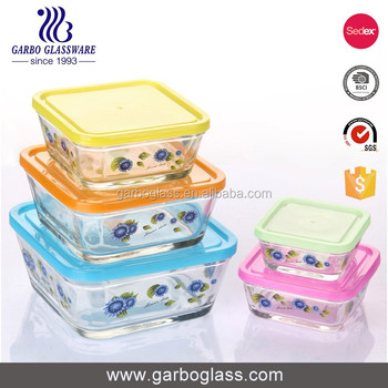 Microwavable Glass Food ContainerRectangular Glass Food Storage Box