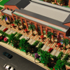 commercial construction project architectural scale model miniature