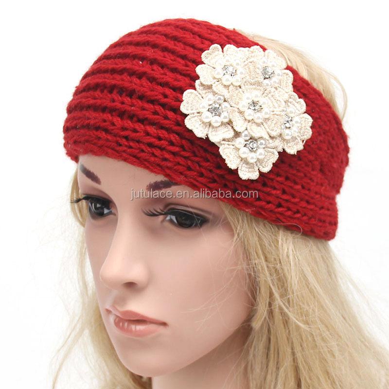 New style headwrap ear warmer -women knit flower headbands-winter headband  for ladies 0c1c5b52dde