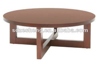 2017 New Design Fashion Foshan Wooden Round Coffee Table