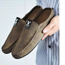 Wholesale Fancy Men Casual Leather Loafer Slipper Shoes