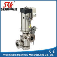 Water Oil Filter Diverter 3 Way Ball Valve for Oil Safety