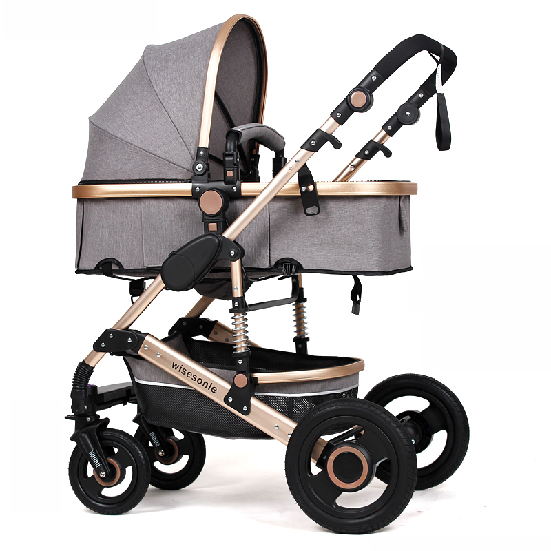 2018 Wholes Luxury Multifunctional Baby Stroller 2 in 1 Good Pram Cheap Baby Carriage Pushchair High Landscape Baby Buggy 2 in 1