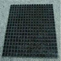 Decorative black galaxy granite mosaic tile