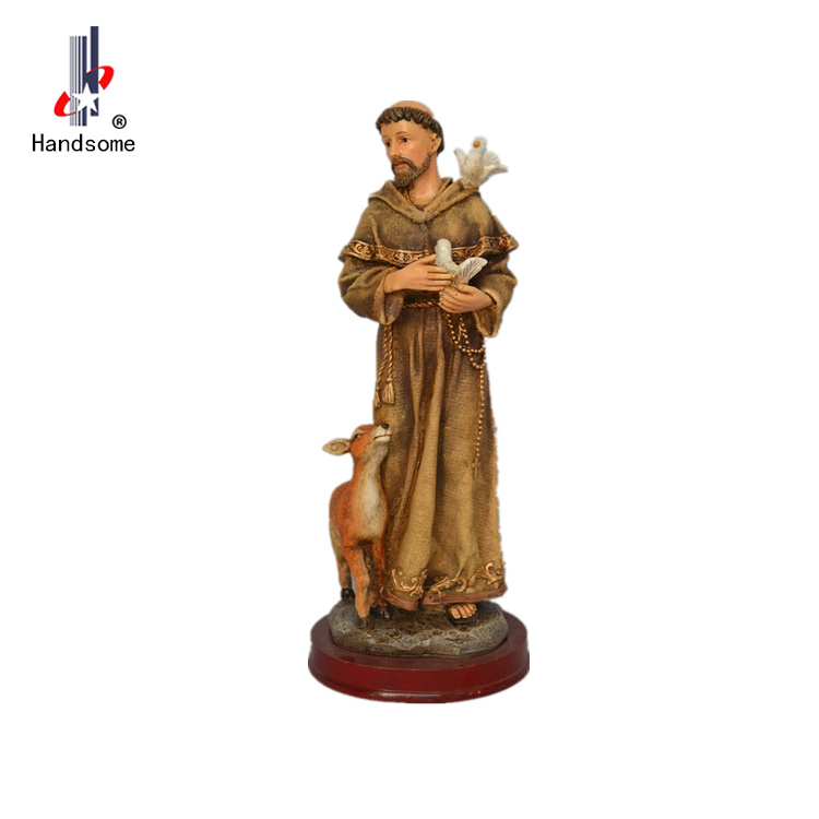 "8""St.Francis with birds religious crafts wholesale"