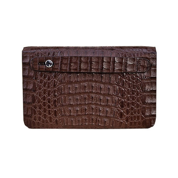 Crocodile Bag Men Luxury Handmade Genuine Leather Clutch